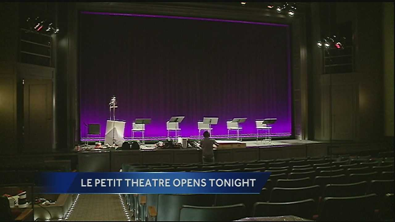 After several setbacks, the Le Petit Theatre in the Vieux Carre is set to reopen on Friday.
