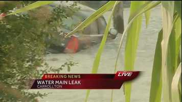 A water main break has flooded several streets Tuesday morning in the Carrollton neighborhood.