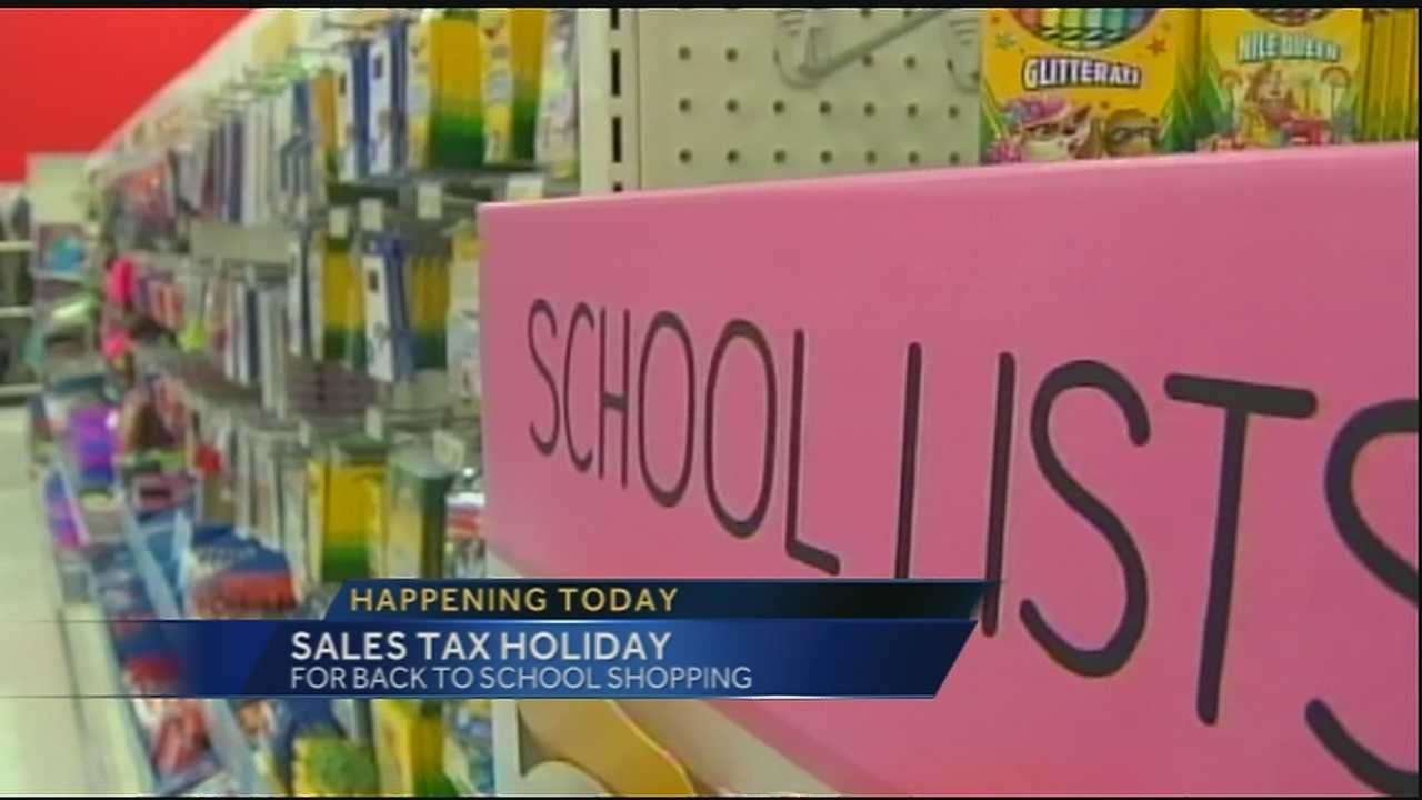 Sales tax holiday begins Friday for back to school shopping