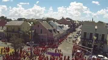 WDSU took to the sky of the 2013 Red Dress Run in the French Quarter and grabbed video and images of the men and women participating in the annual event. Have a photo from the ground? Send them to us on u local! Just email them to ulocal@wdsu.com.