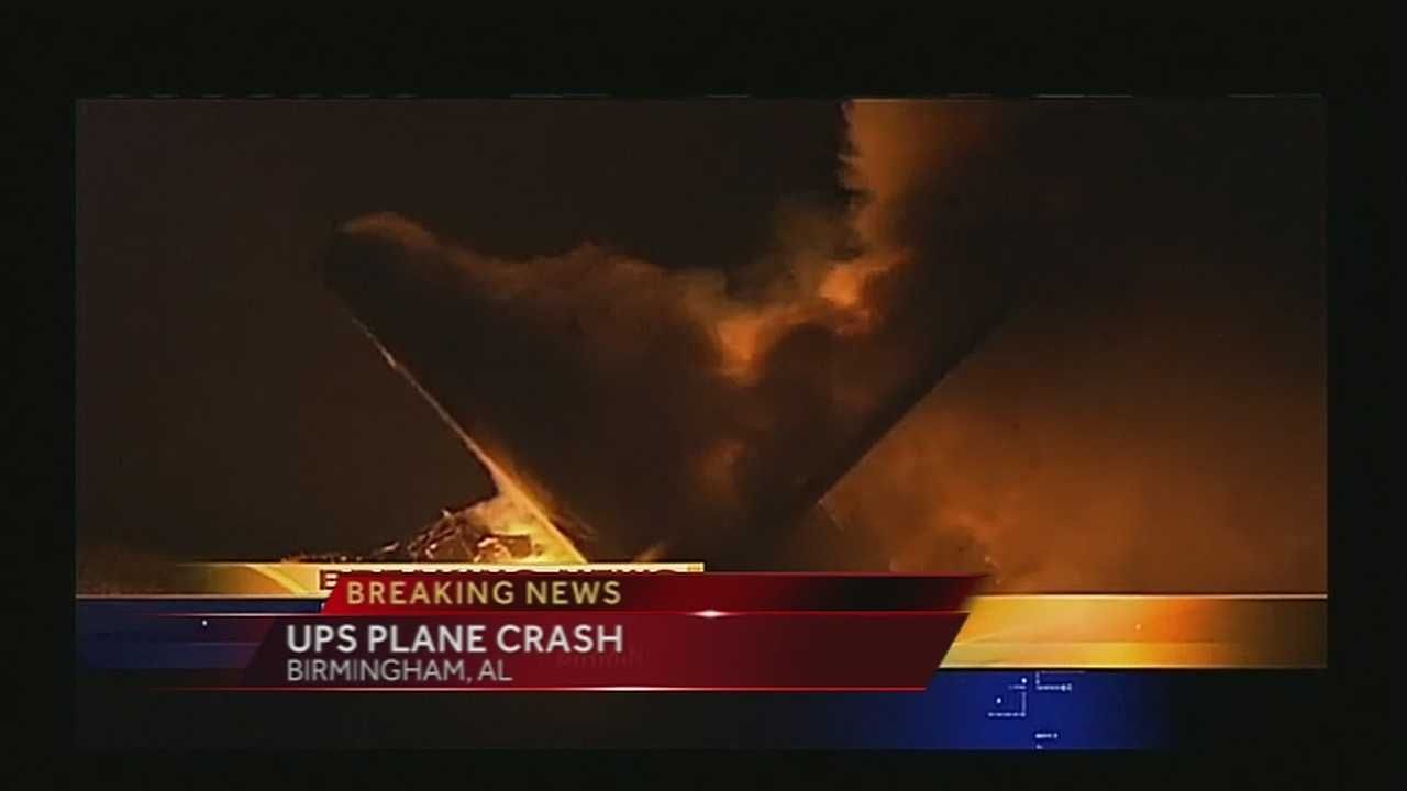 A UPS plane crashed Wednesday morning as it prepared to land at an airport in Birmingham, Alabama.