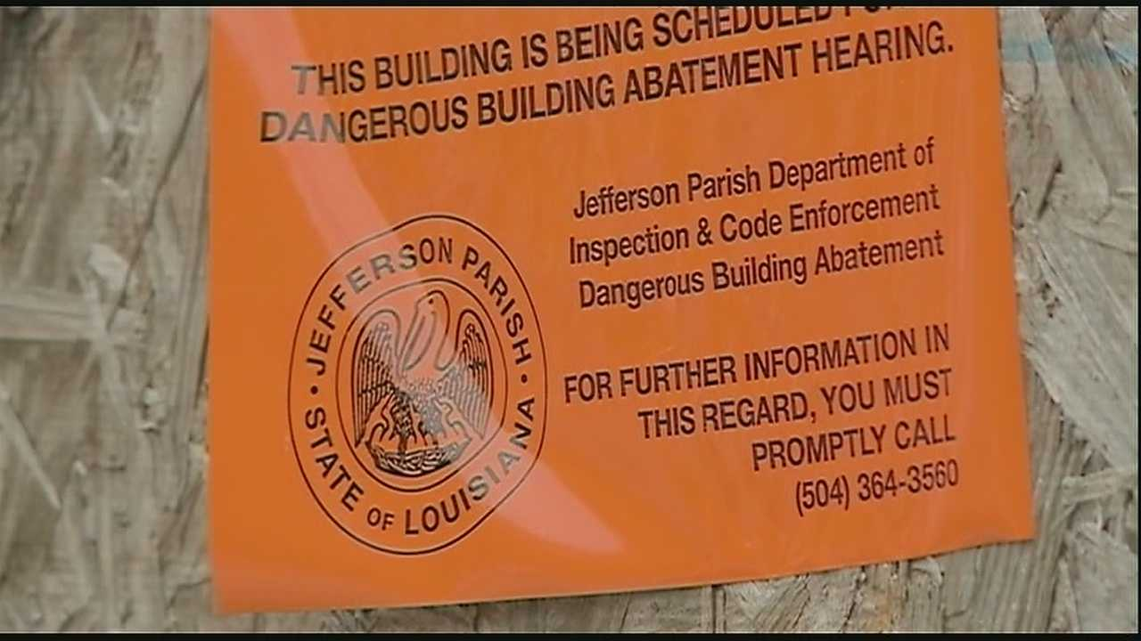 The Jefferson Parish Council approved demolition of an apartment building deemed a 'problem property' in the Woodmere subdivision.
