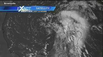 Invest 92L has a 50 percent chance of development, which hasn't changed in the past 24 hours. Visible satellite imagery of Invest 92L shows a hints as to a center of circulation.