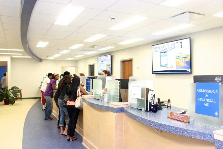 The ribbon-cutting ceremony in the Earl K. Long Library will be a one-stop-shop for student services.