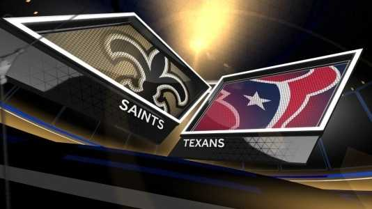 Saints vs Texans logos