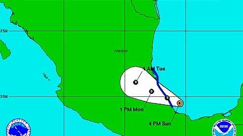 Tropical depression 6 8-25-13 afternoon