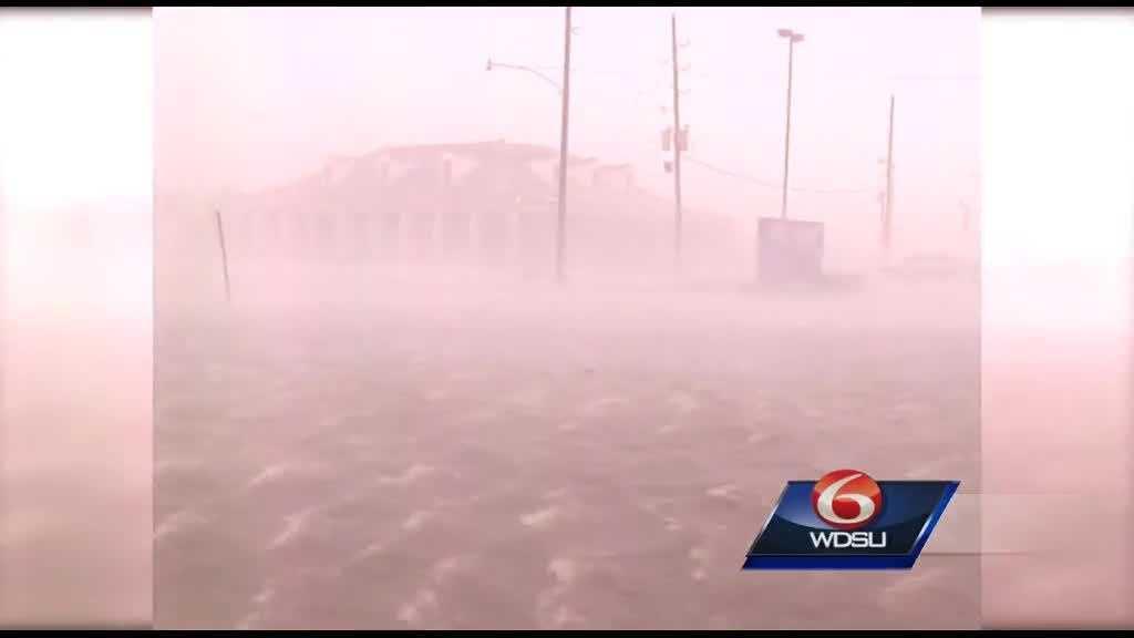 WDSU Katrina wind and rain 2