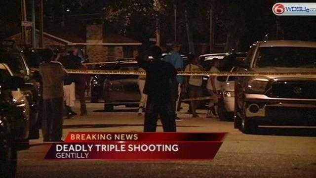 Triple-murder investigation in Gentilly