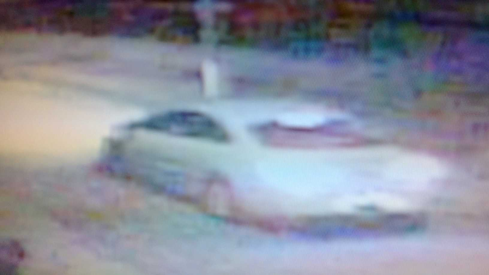 Police believe this surveillance image shows the 2013 white Volkswagen CC Sport used in the Labor Day murder of 11-year-old Arabian Gayles.