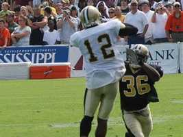 Saints WR Marques Colston vs. Cardinals CB Patrick PetersonThe other former Tiger in Arizona's defensive backfield has also made a tremendous impact in the desert. It's easy to praise his All-Pro selection as a rookie as a return-man, but he's become one of the best corners in the league with amazing coverage ability and nine interceptions to boot.I'd expect Marques Colston to see lots of Peterson Sunday. Going against a 6-foot 1-inch corner, Colston won't be able to use his size as much as he can versus shorter corners, but he's crafty enough to find a way. Sprinkle in the fact that Drew Brees can fit it anywhere, and this is a heck of a matchup.