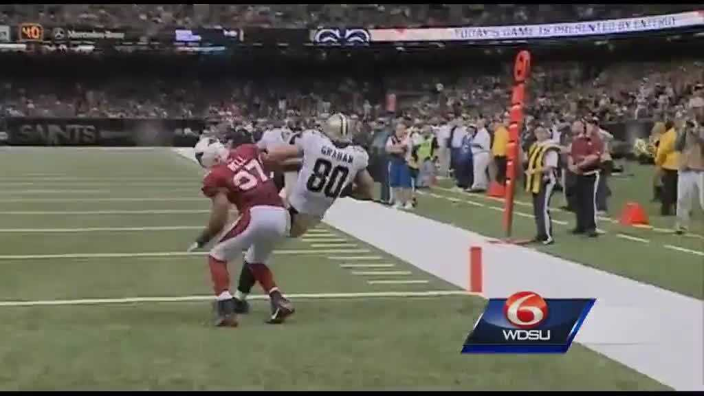 Jimmy Graham catching in end zone (cards 092213)