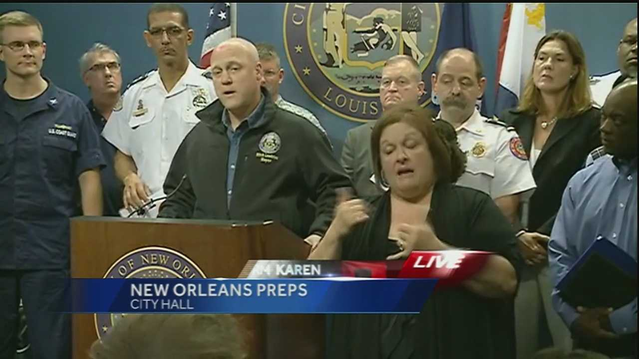 City leaders gathered at City Hall to update the public on the preparations ahead of Tropical Storm Karen.