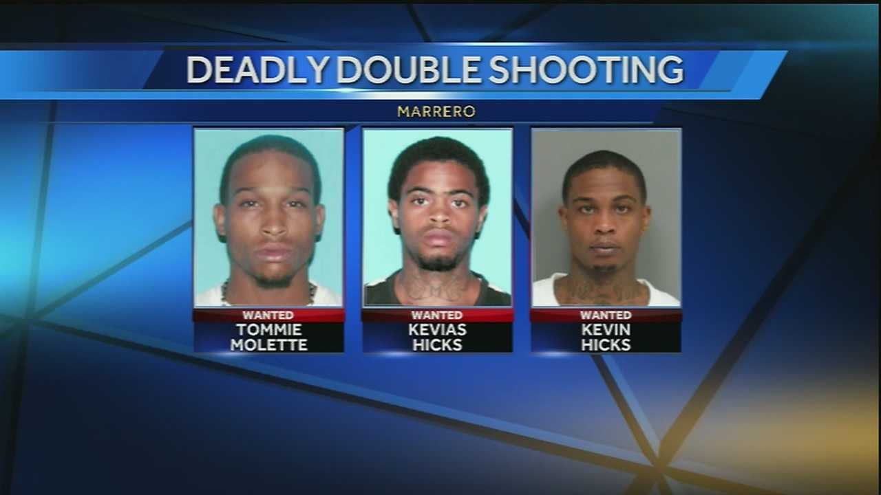 Jefferson Parish authorities identify three suspects in a double shooting in Marrero.