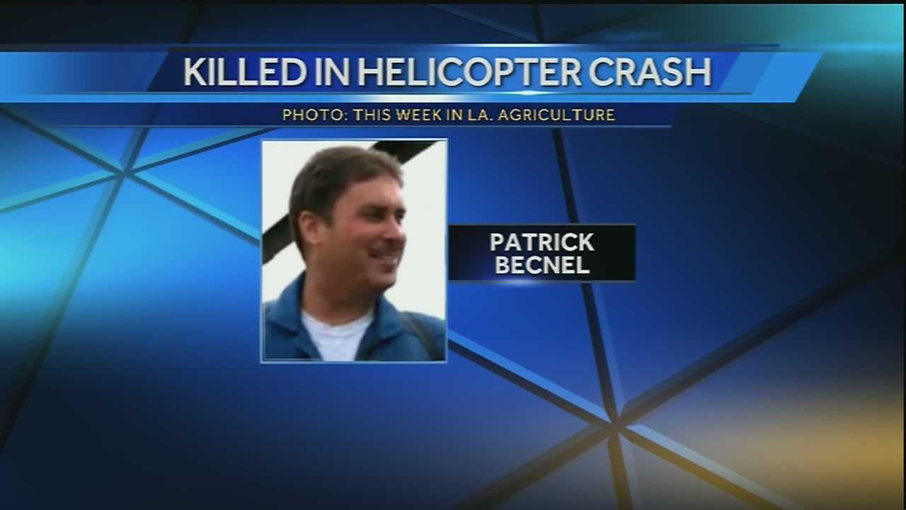 Officials identify the helicopter pilot who died in a crash on Wednesday.