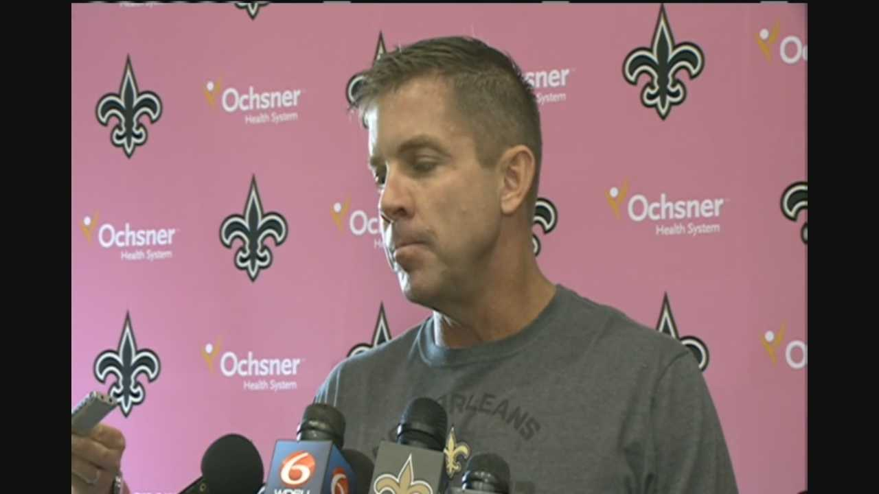 Raw video: Sean Payton addresses New England loss