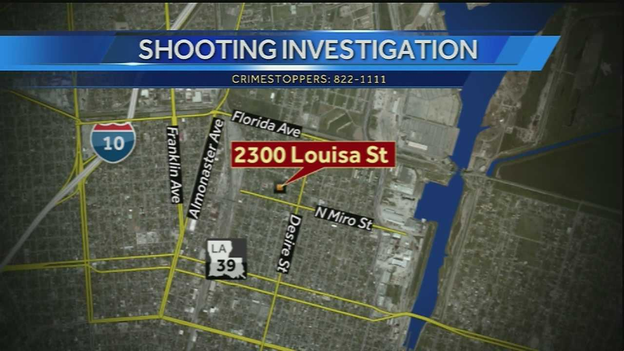 New Orleans police said a woman was injured in a shooting that happened in the Upper Ninth Ward on Wednesday night.