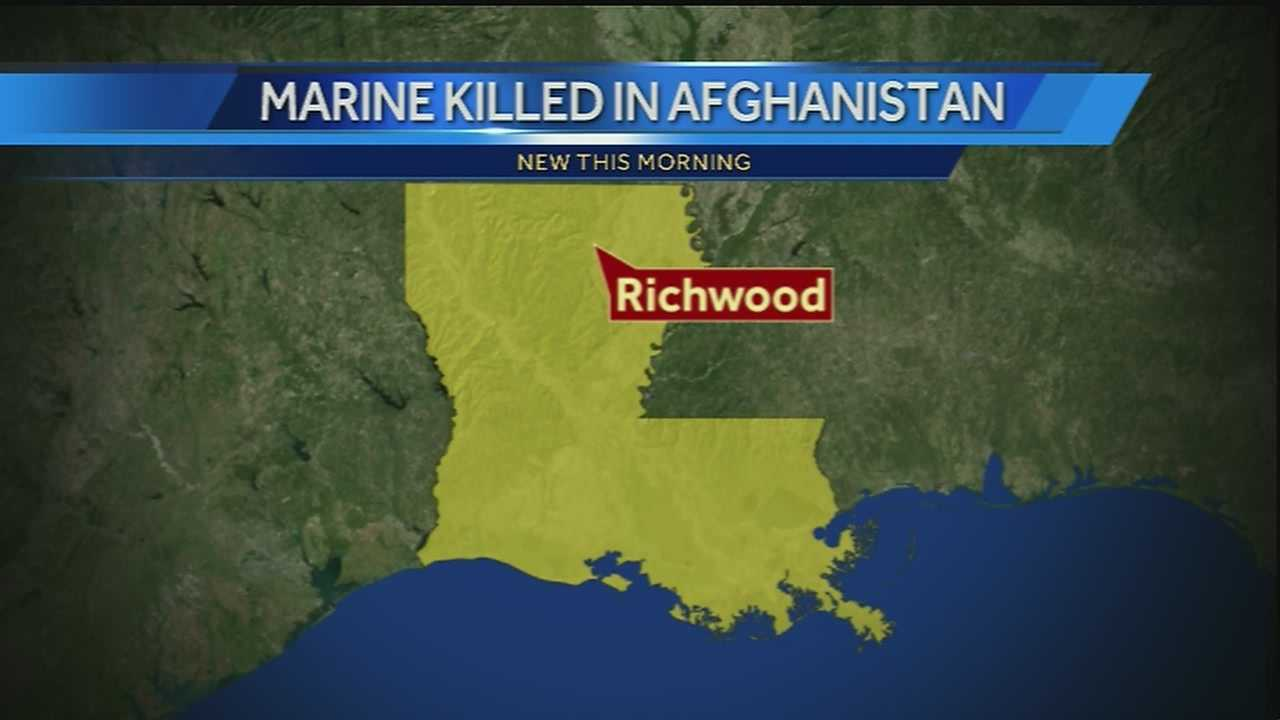 A U.S. marine from Louisiana has died while serving in Afghanistan.