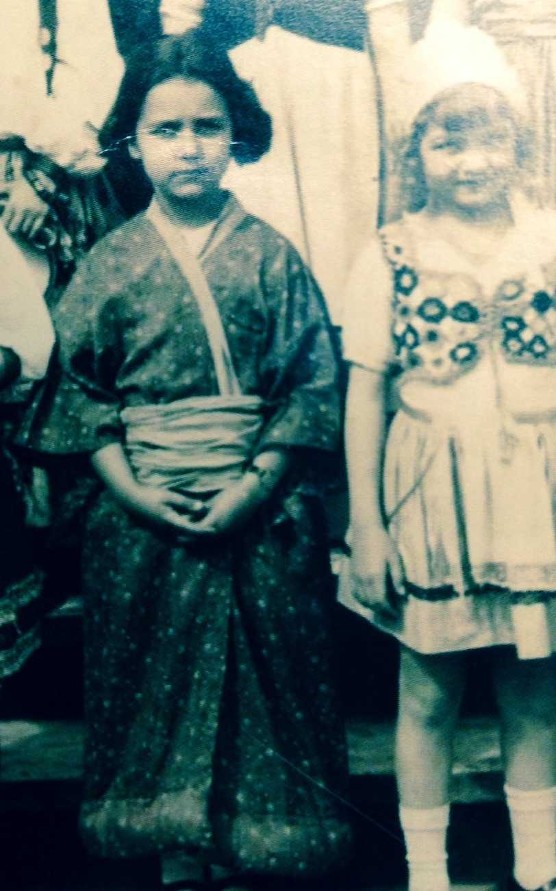 In this photo, this little girl is exploring different cultures for her Halloween. Can you guess who this would grow up to be?
