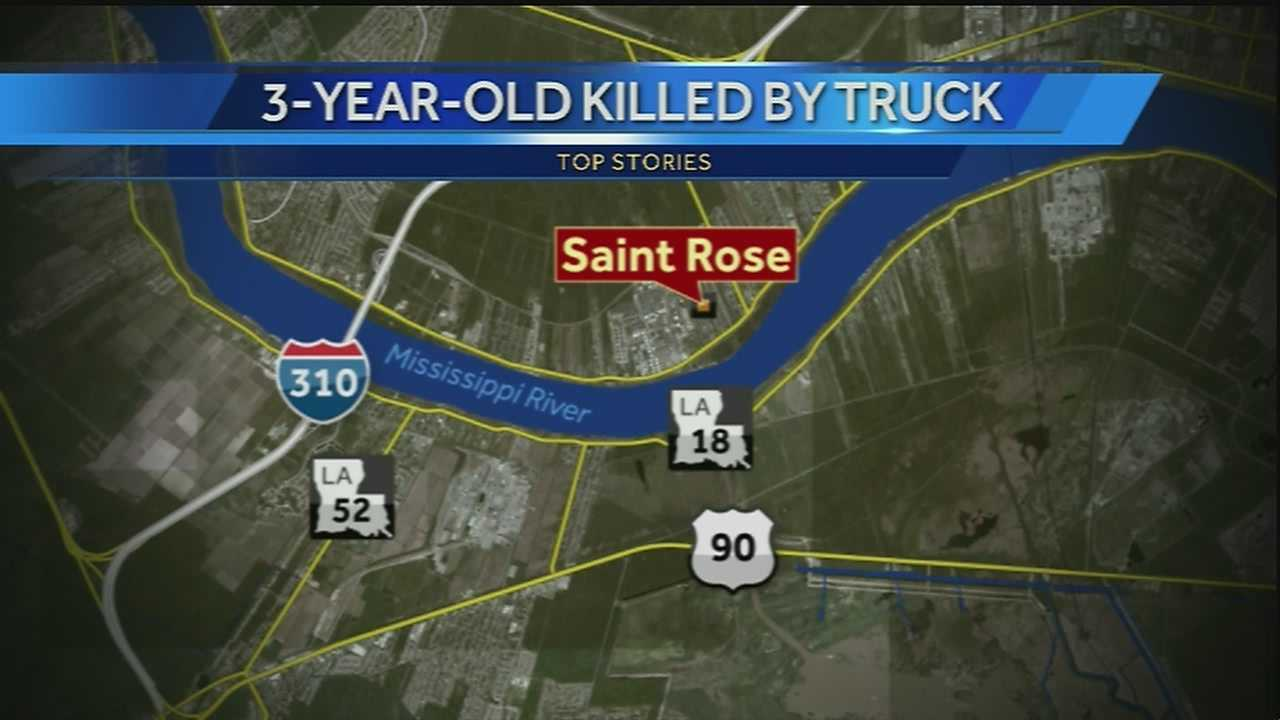 A 3-year-old boy was killed after being struck by a dump truck in St. Rose, La.