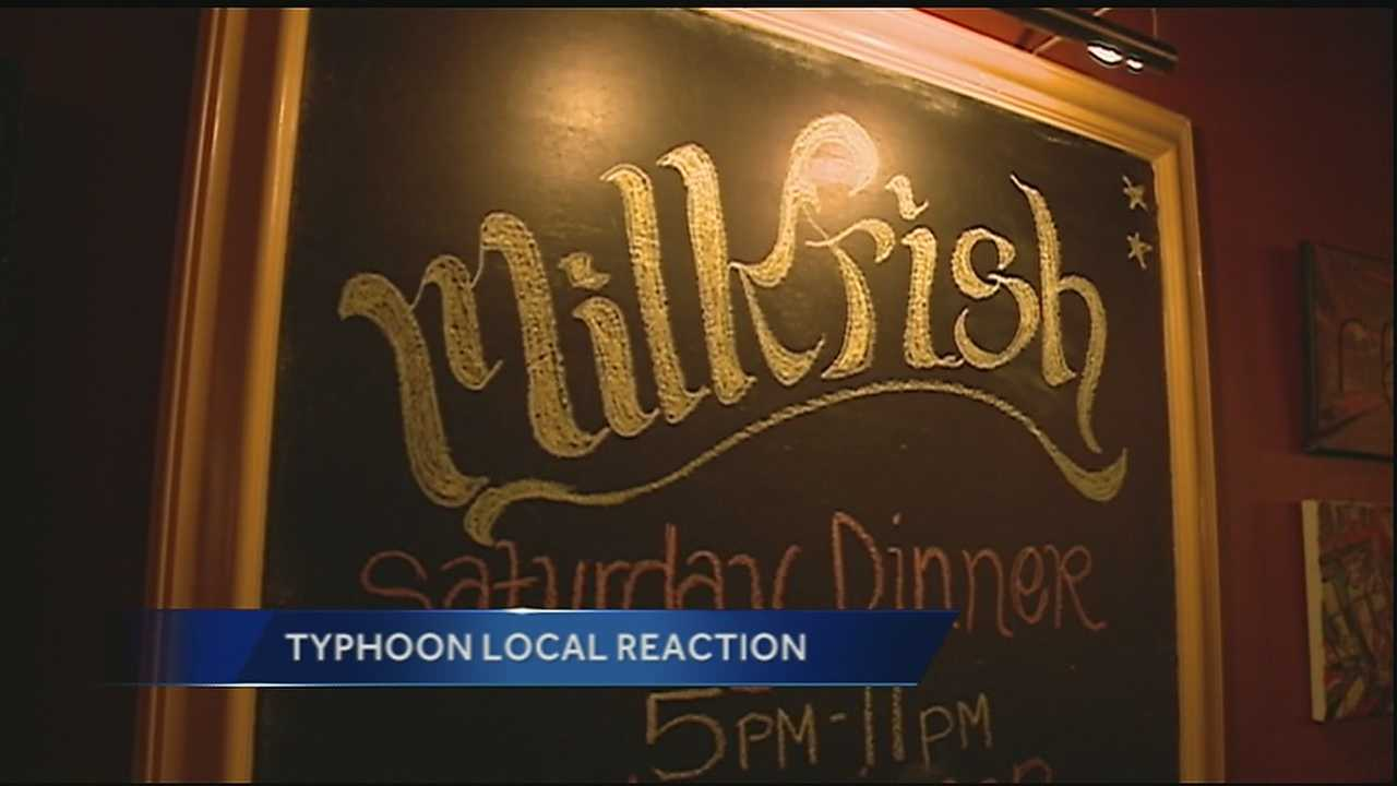 A local restaurant has cooked up a plan to reach out to victims of typhoon Haiyan.