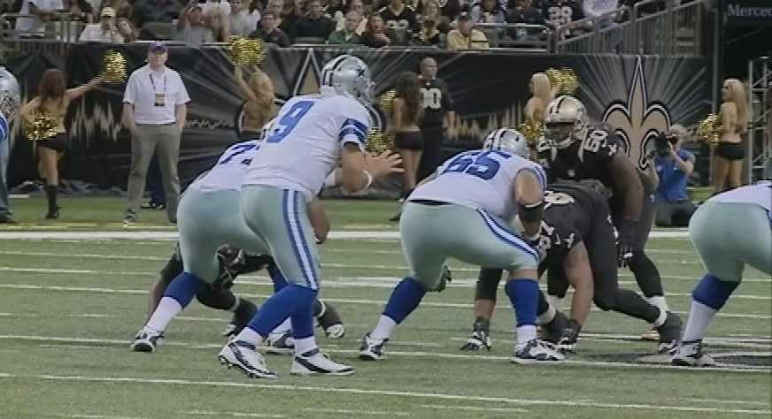 Saints' defenseNo one player stood out above the rest on New Orleans' defense, but they all came to play. The Saints held Dallas to just 193 total yards and nine first downs. Dallas was a goose egg on third down – 0-for-9. Quite honestly, New Orleans' defense had as much to do with the Saints' record-breaking offensive performance, because he 'O' can't dominate to that degree if the 'D' isn't constantly getting the ball back to them. Holding Dallas to 20 minutes in time of possession will do that, and the demolition of the 'Boys had to be extra special to defensive coordinator Rob Ryan, who was dismissed by Dallas this past offseason.