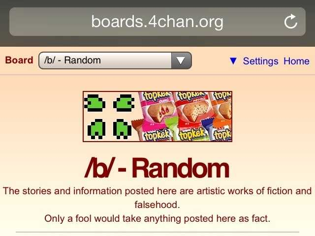 4Chan is an image-based message board where anyone can post comments and share images.