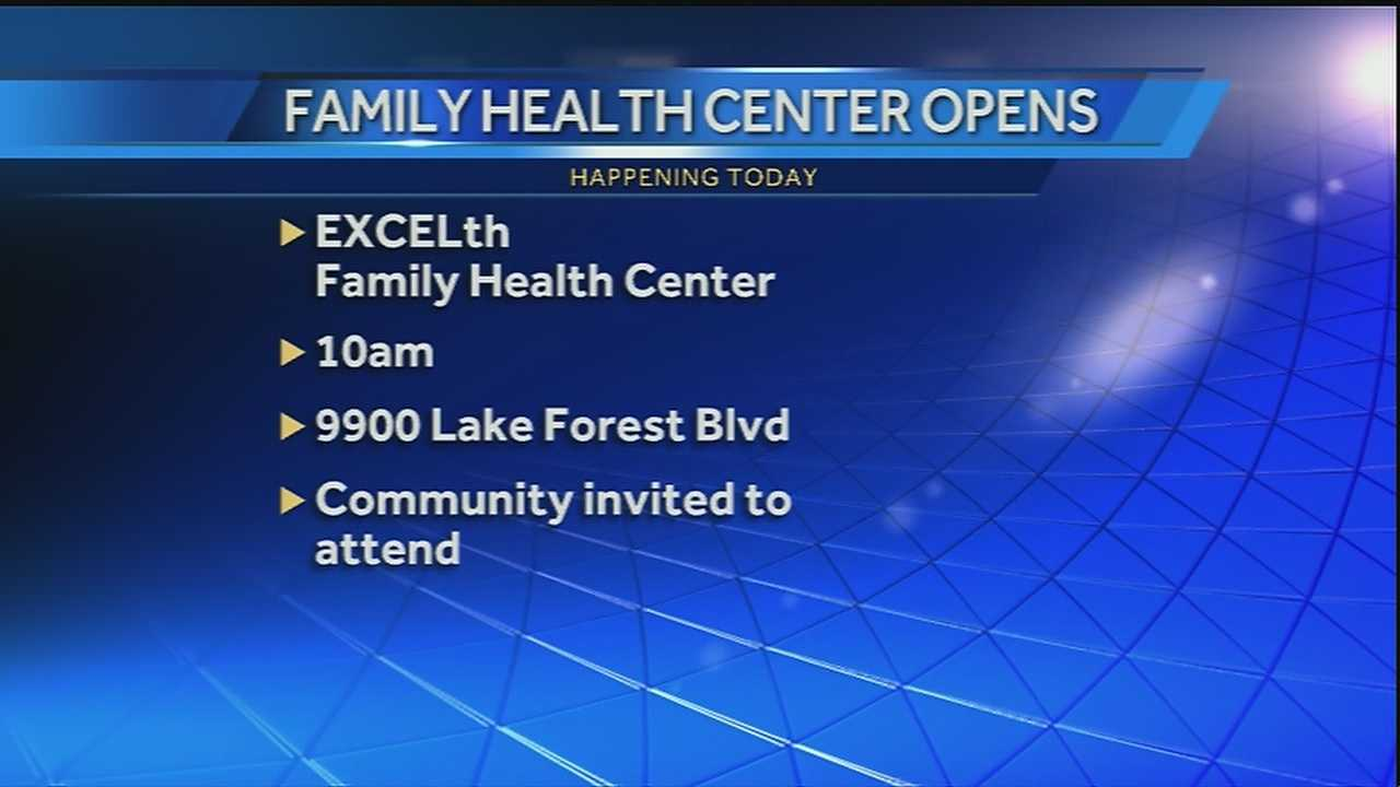 EXCELth Incorporated will have a grand opening and ribbon cutting ceremony for the new family health center today.