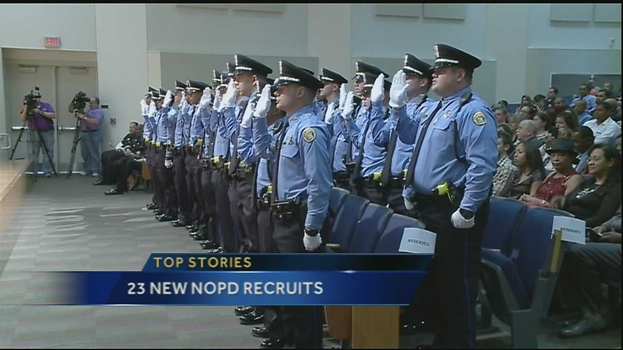 Twenty-three new New Orleans Police Department recruits joined the force on Friday.