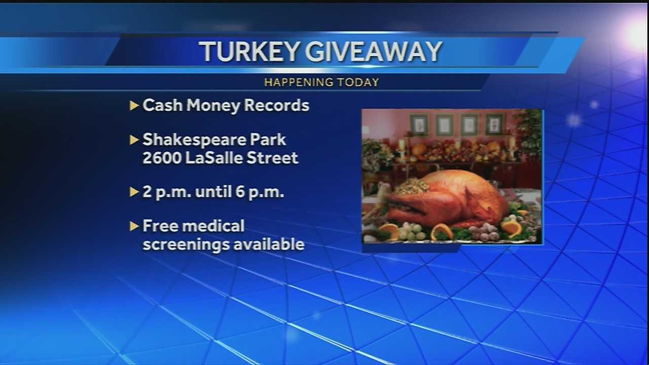 Today Cash Money Records will host its 17th Annual Turkey Give-a-way.