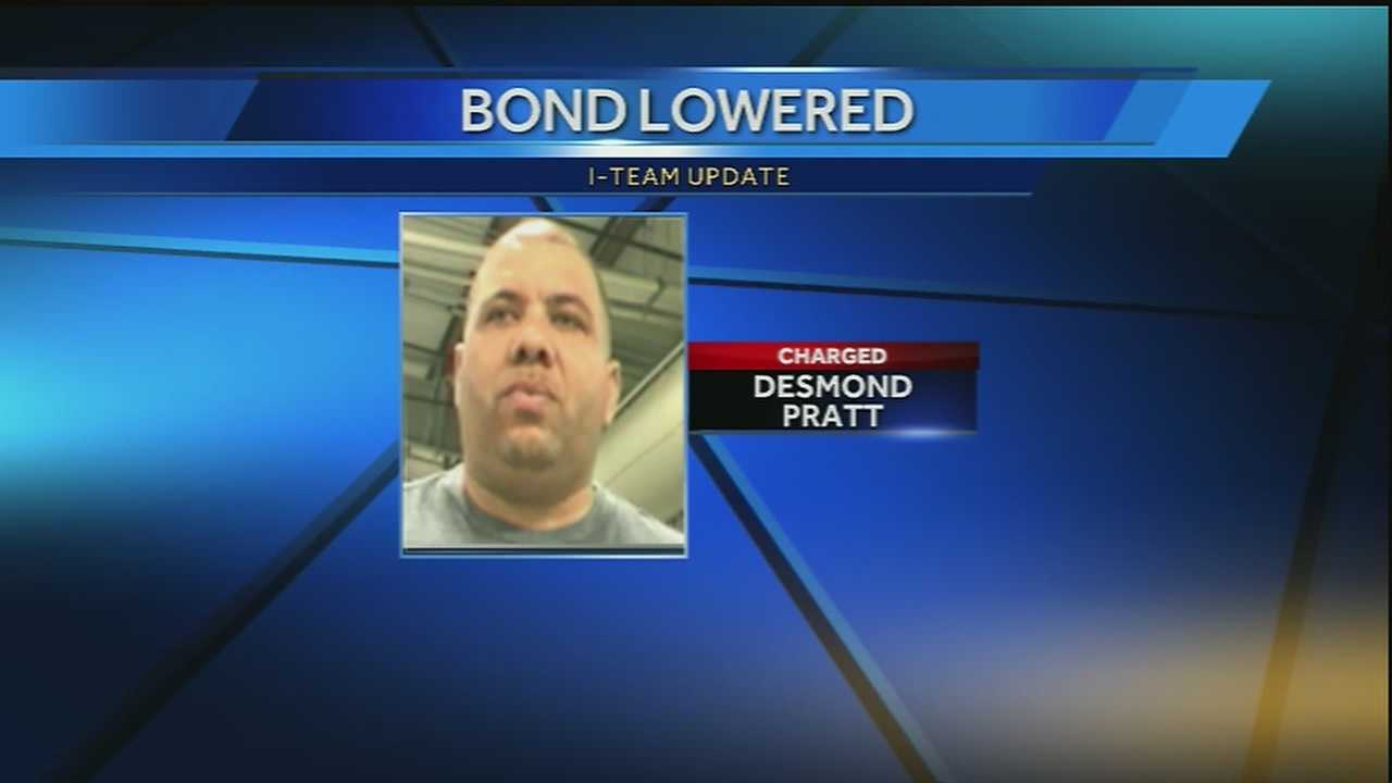 After reviewing evidence, Judge Franz Zibilich lowered the bond amount for 42-year-old Desmond Pratt from $500,000 to $400,000.