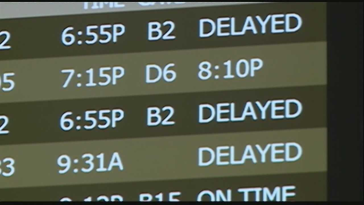 Flights are being delayed all over the country.