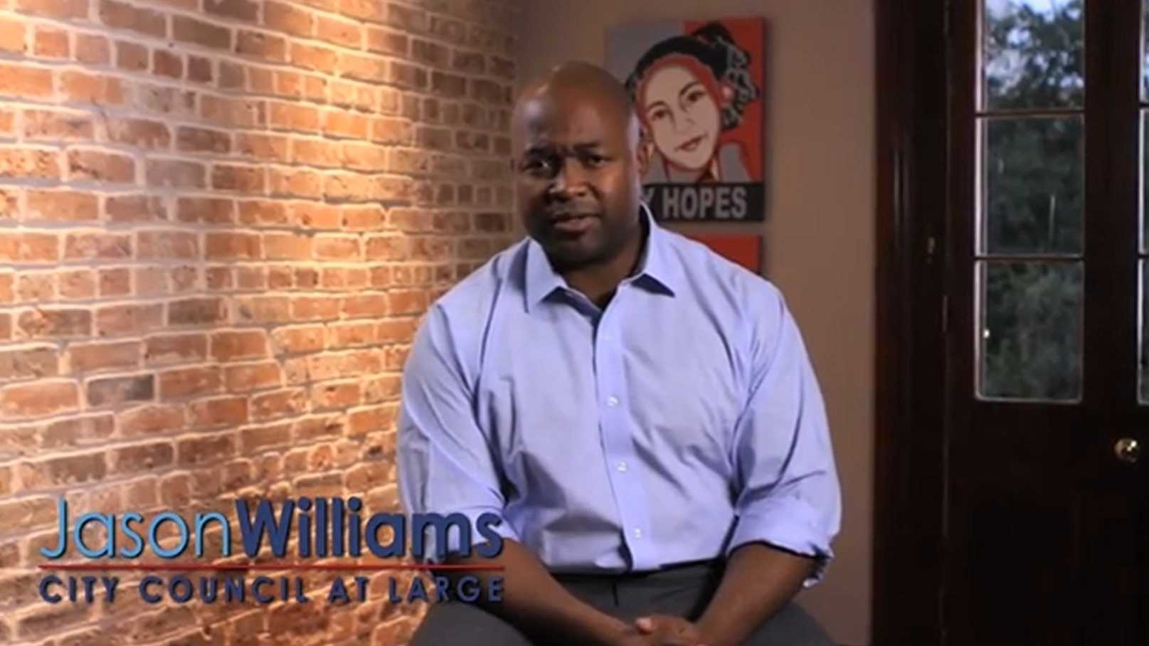 Attorney Jason Williams announced his bid to run for the Council At Large seat in a video posted to YouTube.