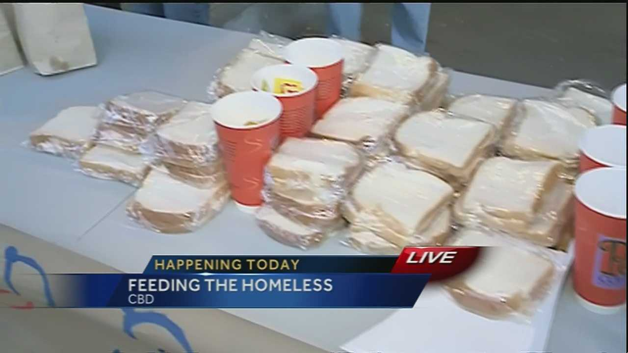 A group of volunteers braved the cold to make sure the homeless and hungry got a good meal.