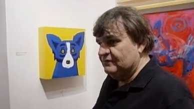 George Rodrigue at his French Quarter gallery