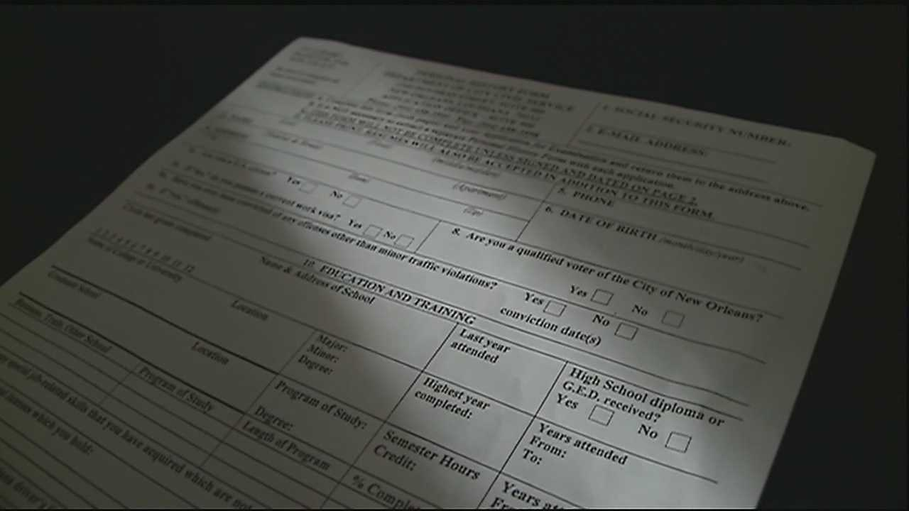 Convicted felons applying for a job with the city, now will no longer have to reveal the fact that they are convicted felons.