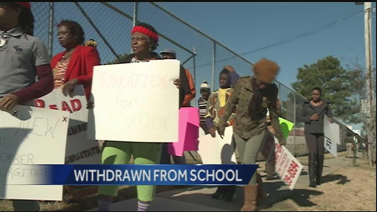 Dissatisfied parents removed their children from one New Orleans East school on Tuesday.