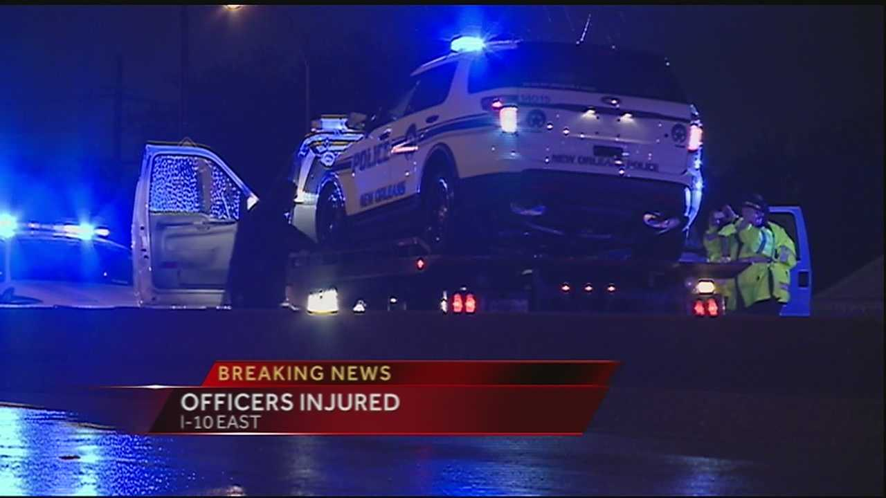 Officers injured in early-morning hit-and-run