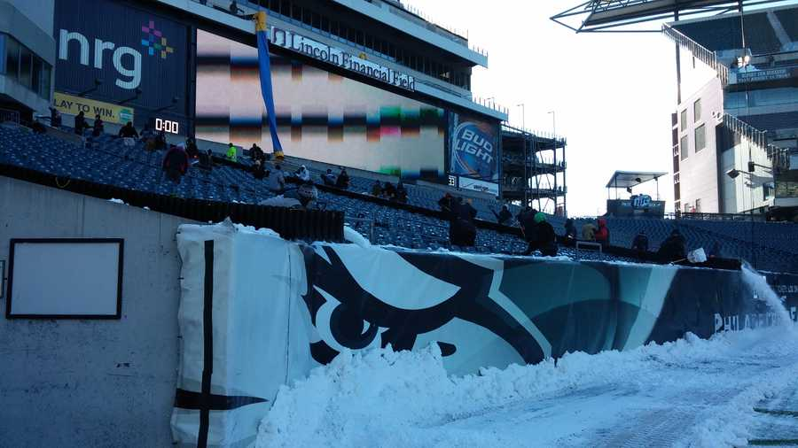 Lincoln Financial Field Snow