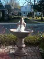 Frozen fountain at Magnolia school on River Road in Jefferson. u local member: Sherrywms