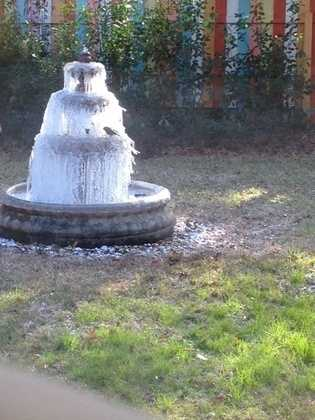Frozen fountain sent from a viewer in Mandeville.