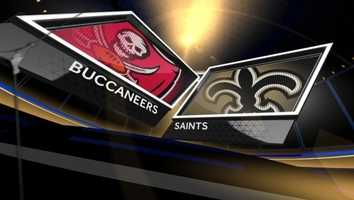 Week 17 – Saints 42, Bucs 17New Orleans entered the postseason in stride and ushered in the end of the Greg Schiano era in Tampa with a huge win over the Bucs to round out the regular season perfect in the Dome.Drew Brees threw four passing touchdowns and ran for another.The win assured New Orleans of a playoff berth.