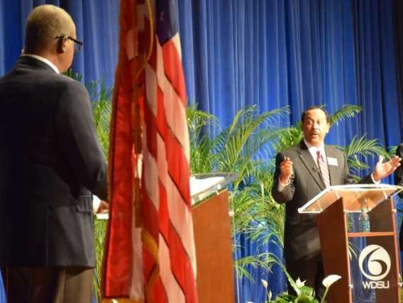 Norman Robinson moderated the Commitment 2014 mayoral debatesponsored by the League of Women Voters, the National Council of Jewish Women, the National Coalition of 100 Black Women, the Urban League of Greater New Orleans and the Public Law Center.
