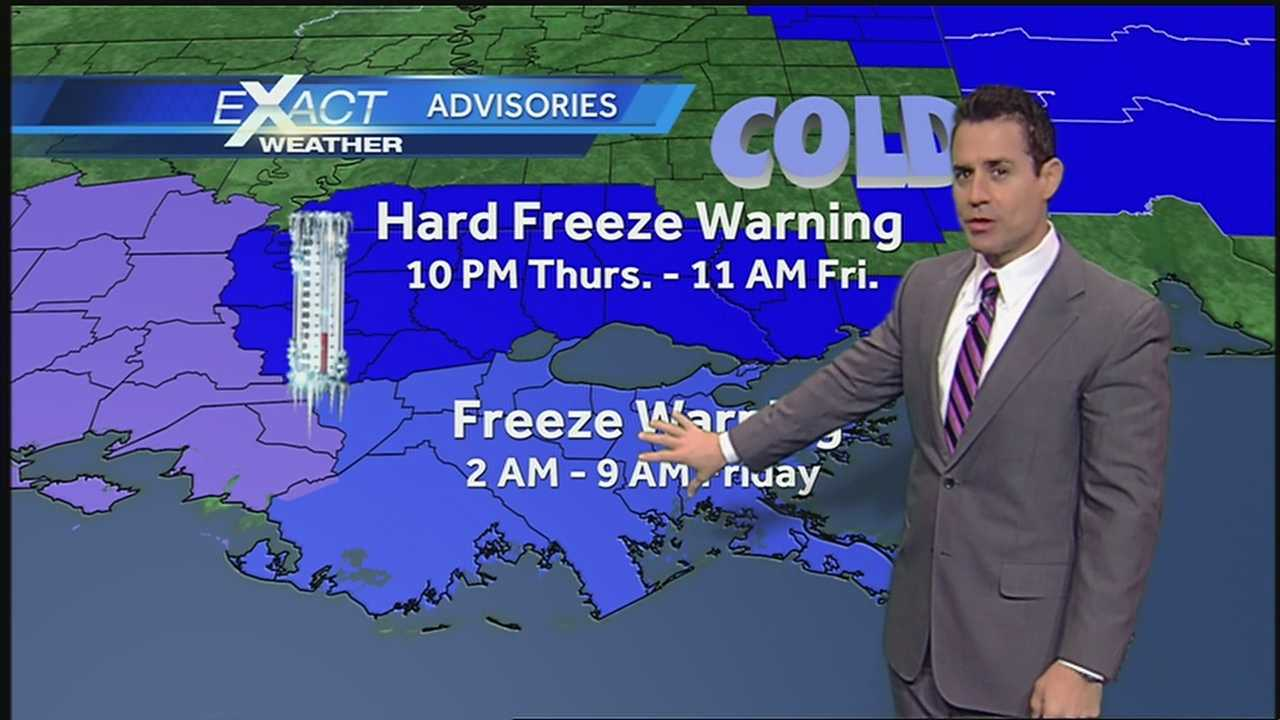Another cold front will bring more freezing and sub-freezing temperatures