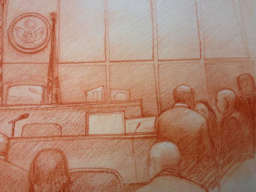 Former New Orleans Mayor Ray Nagin is being tried on a 21-count indictment for crimes allegedly committed during his tenure in office. With no cameras being allowed in the courtroom, take a look at sketches from our court sketch artist Carol Peebles.