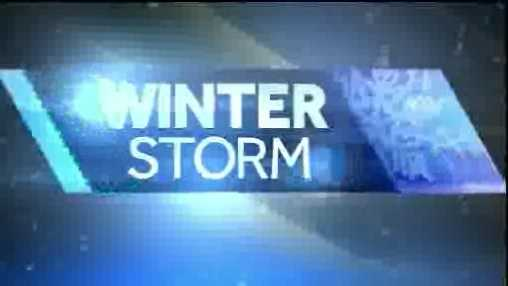 Winter storm graphic