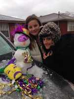 From: Jennifer Holley ThieleTitle: Mardi Gras Snowman