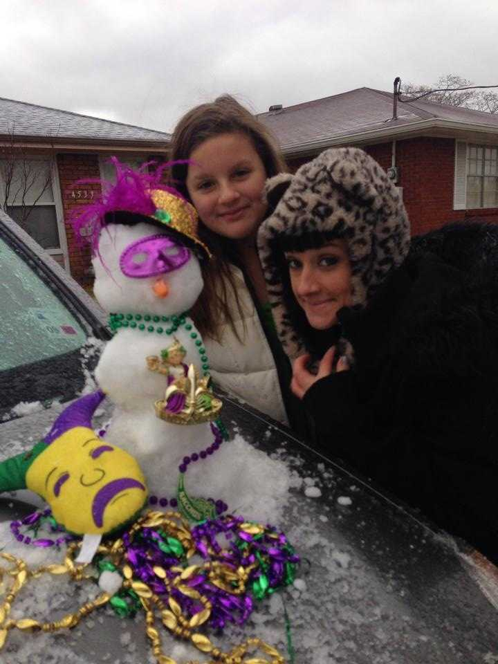 From: Jennifer Holley ThieleTitle: Mardi Gras Snowman