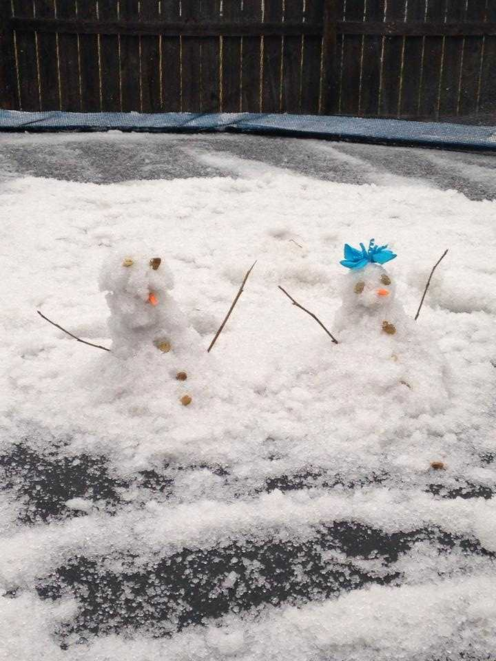 From: Leighana St. Angelo - MandevilleTitle: Snowman and snowgirl