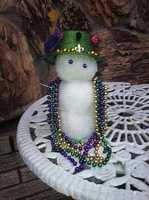 From: Whitney LongTitle: Mardi Gras Snowman