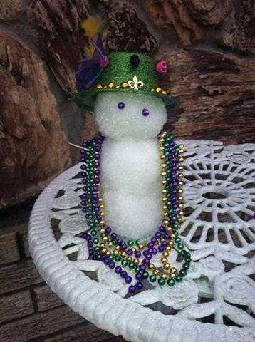 From: Whitney LongTitle: Mardi Gras Snowman